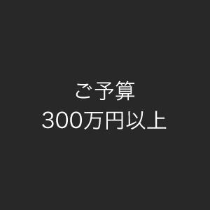 ご予算300万円以上